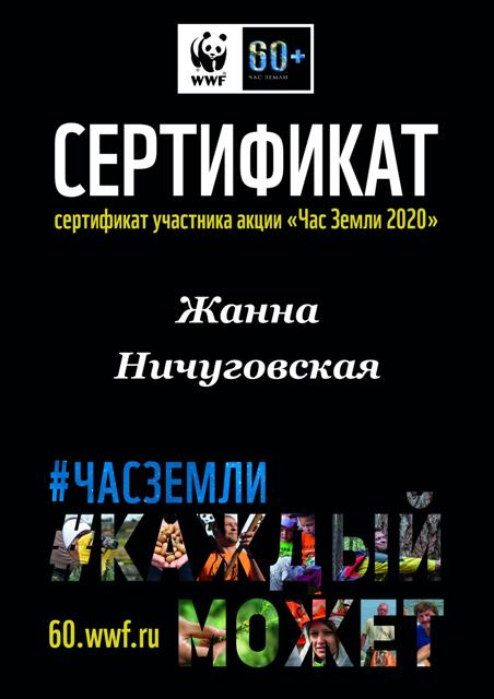 Час Земли 2020Ничуговская